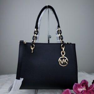 🌺NWT Michael Kors MD Sofia Tote Bag Purse Black